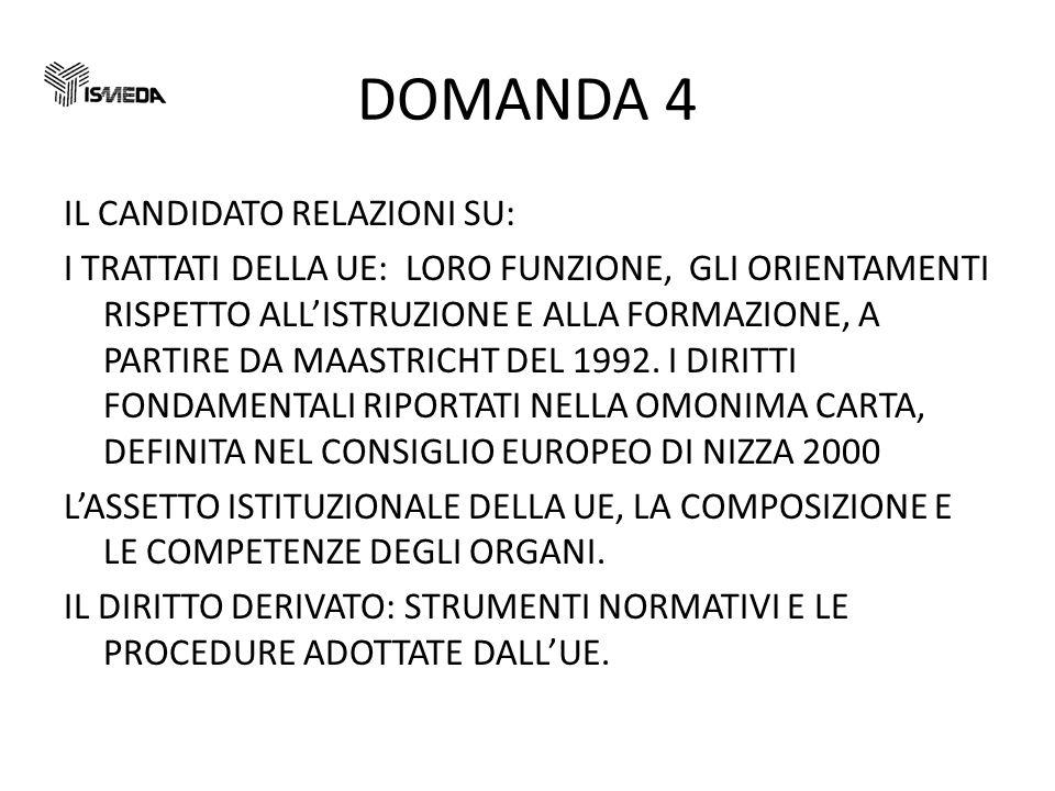 DOMANDA 4