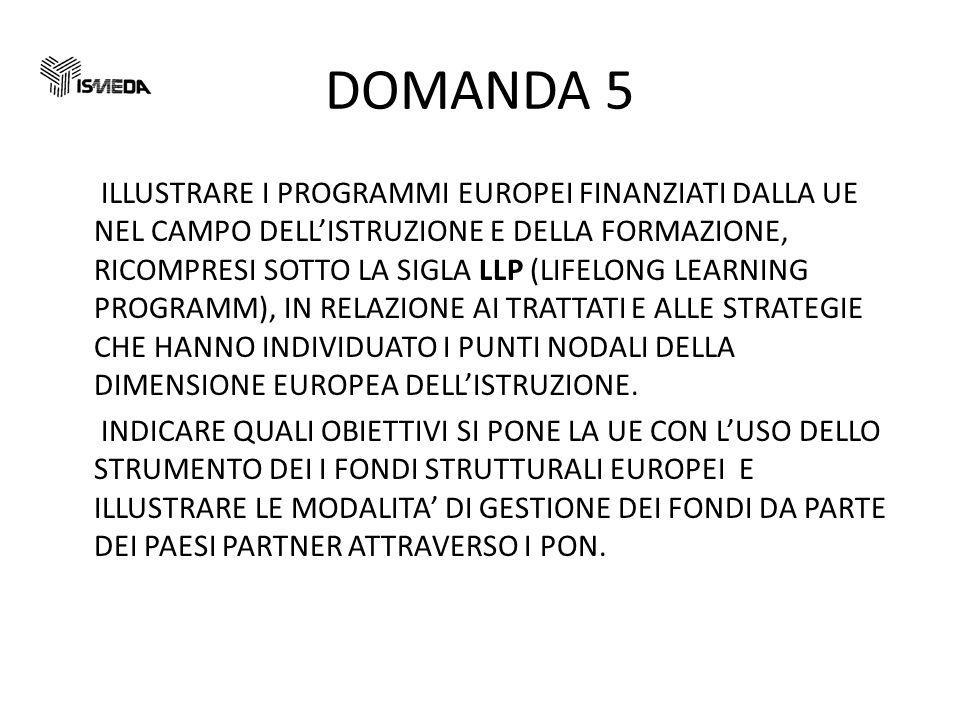DOMANDA 5