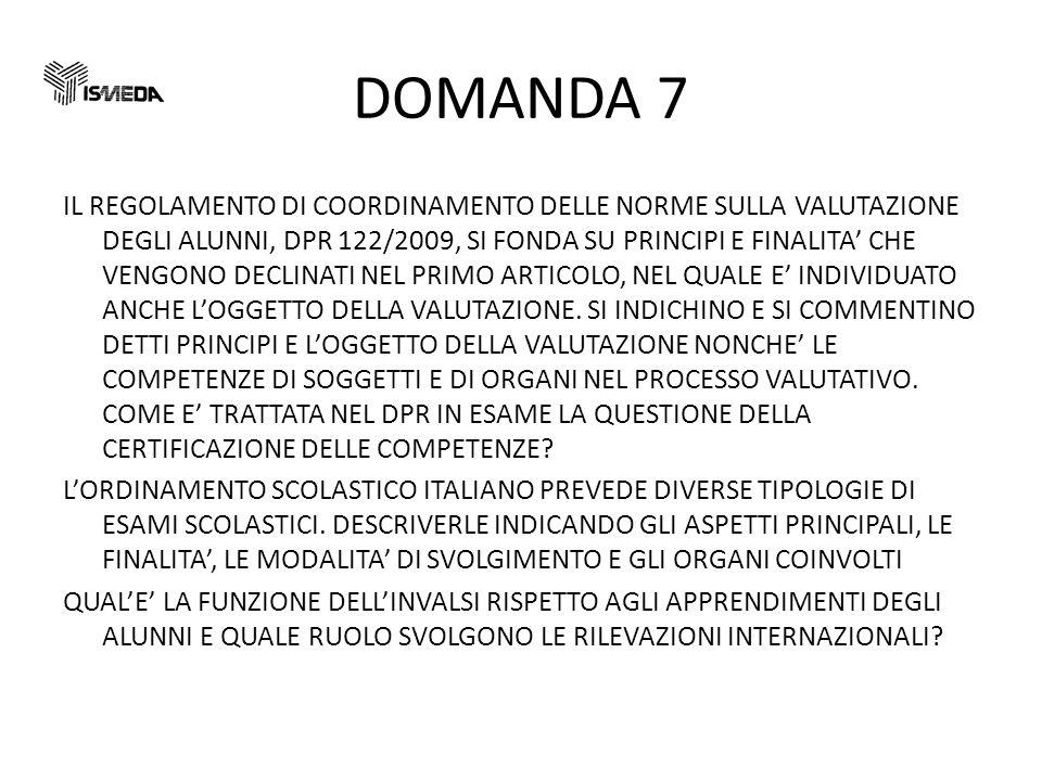 DOMANDA 7