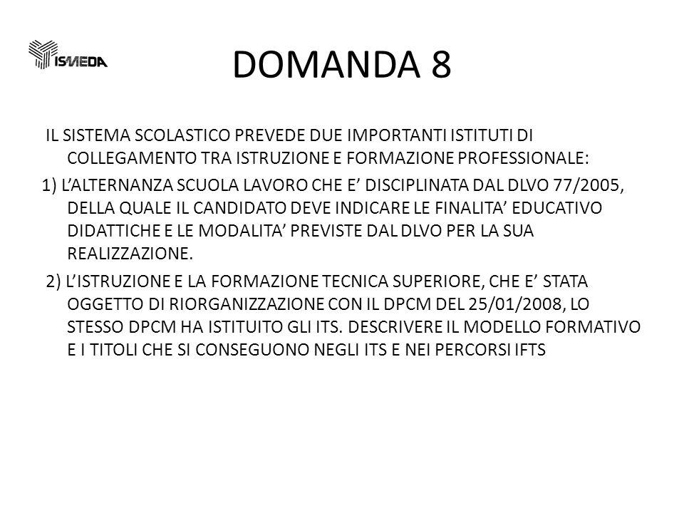 DOMANDA 8