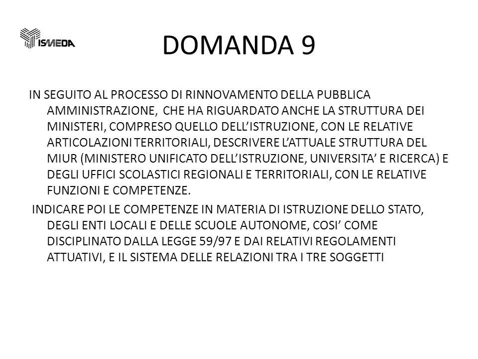 DOMANDA 9