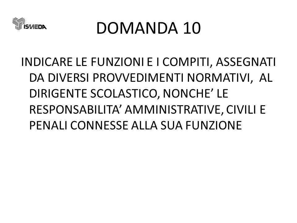 DOMANDA 10