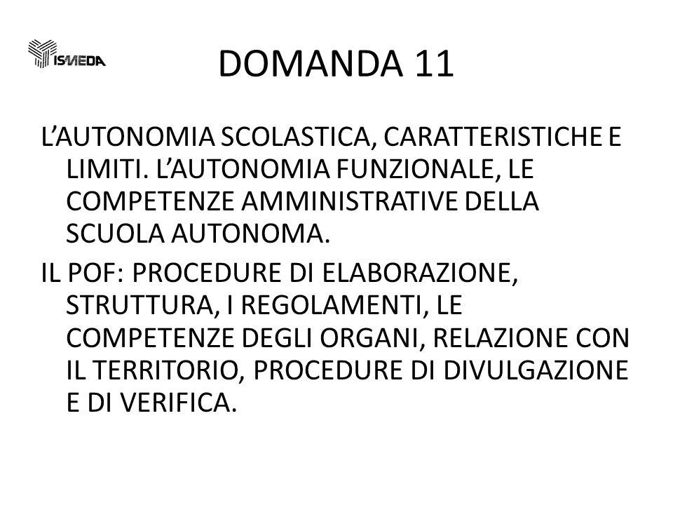 DOMANDA 11