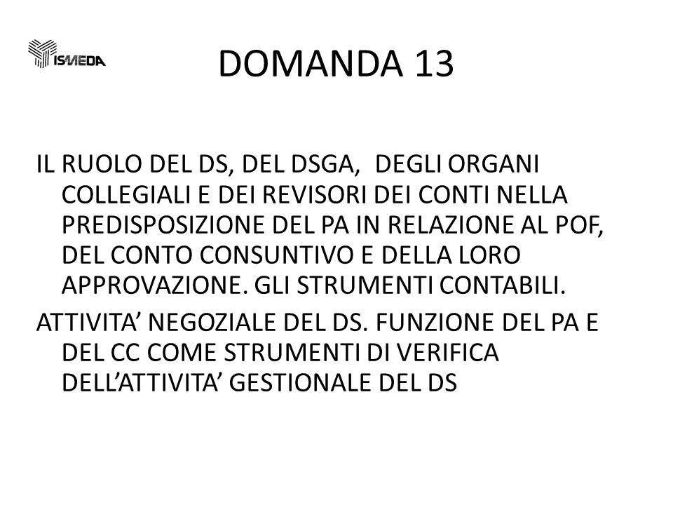 DOMANDA 13