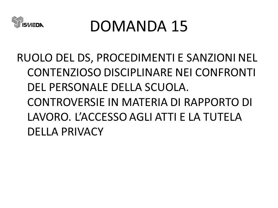 DOMANDA 15