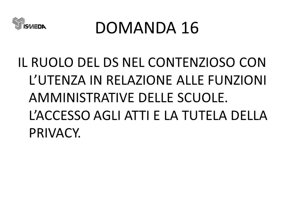 DOMANDA 16