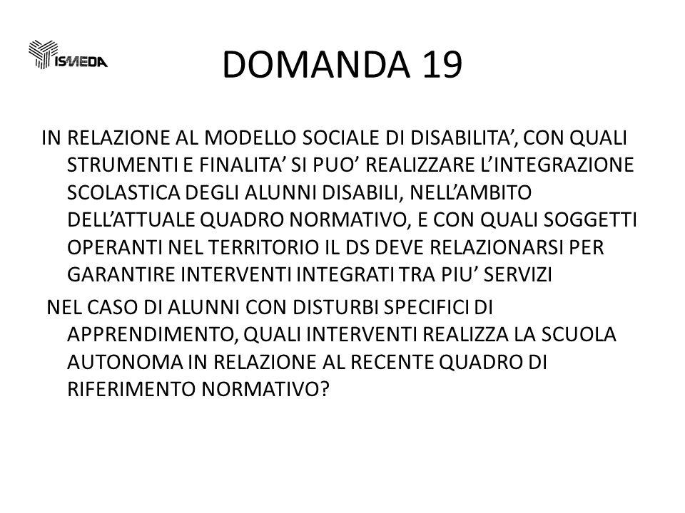 DOMANDA 19