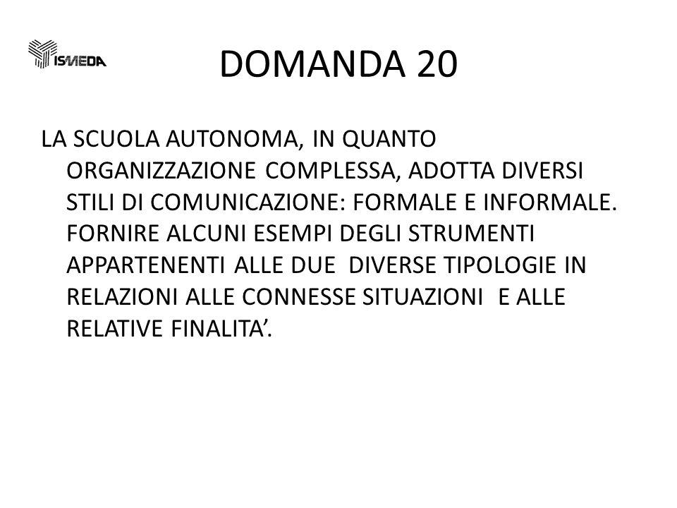 DOMANDA 20