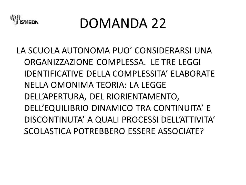 DOMANDA 22