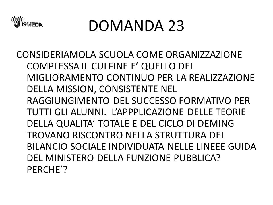 DOMANDA 23