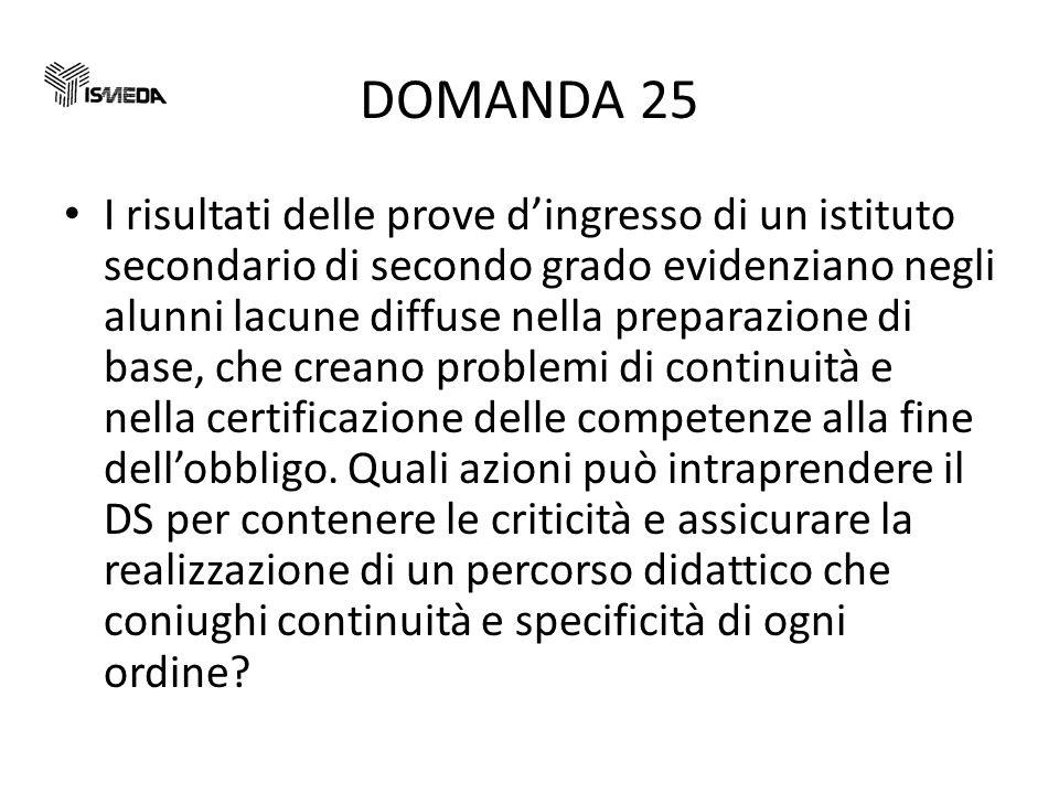 DOMANDA 25