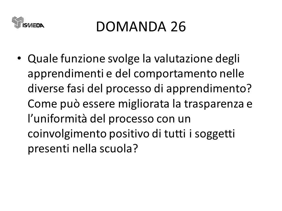 DOMANDA 26