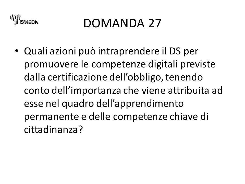 DOMANDA 27