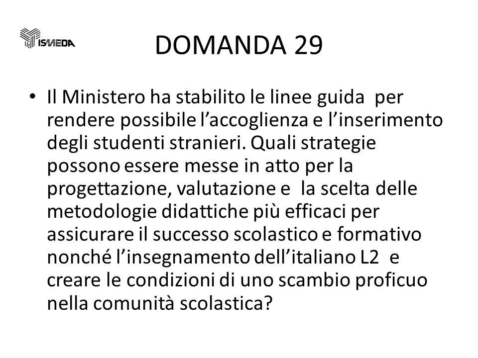 DOMANDA 29
