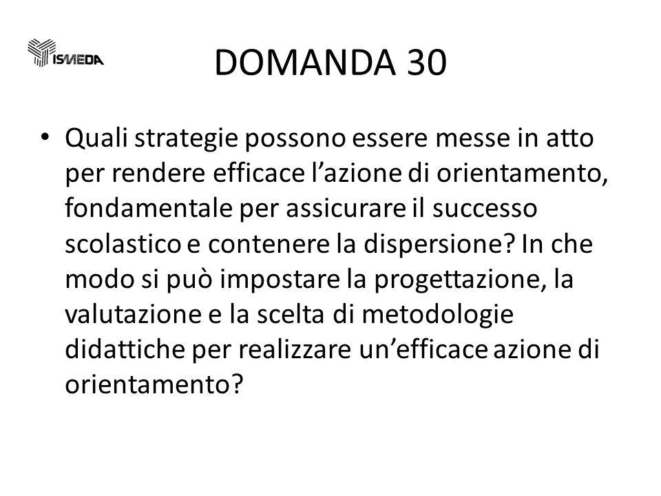 DOMANDA 30