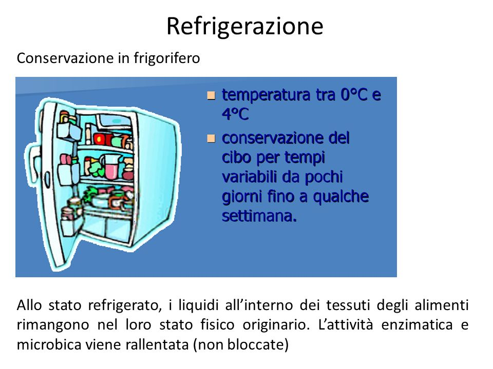 Refrigerazione Conservazione in frigorifero