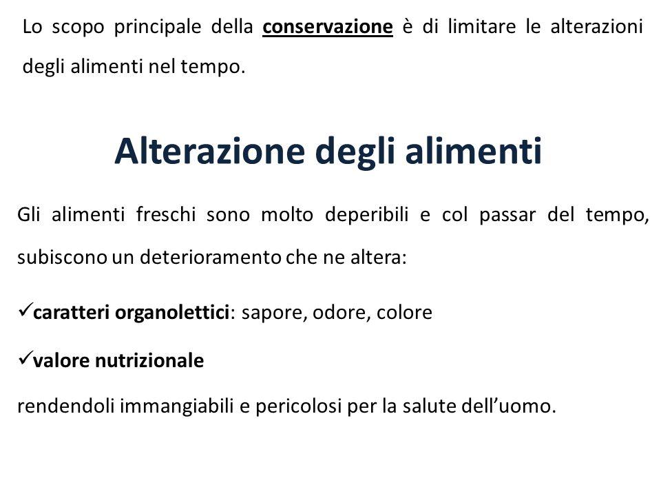 Alterazione degli alimenti
