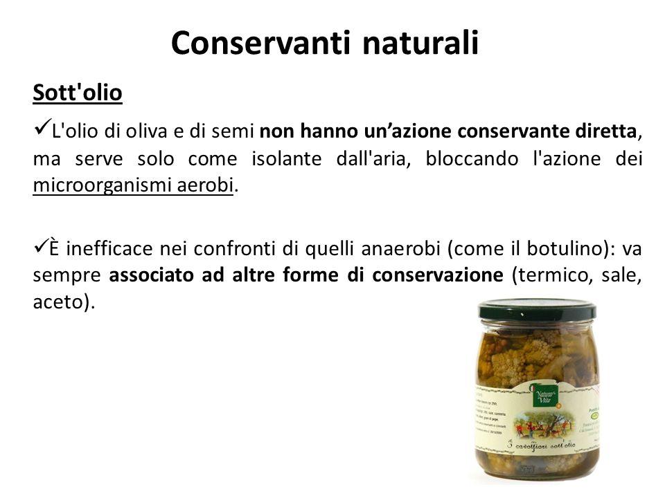 Conservanti naturali Sott olio