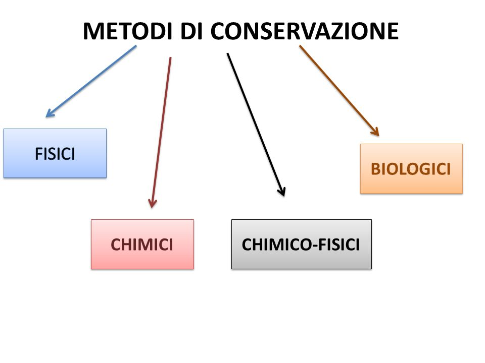 METODI DI CONSERVAZIONE