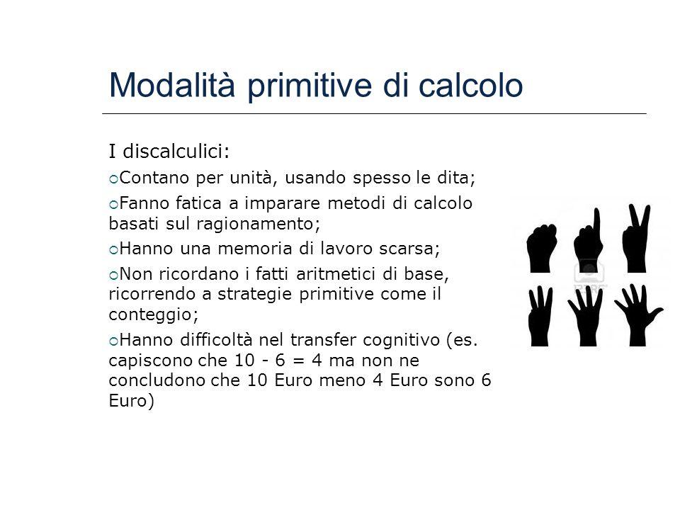 Modalità primitive di calcolo