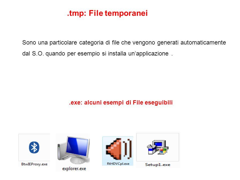 .exe: alcuni esempi di File eseguibili