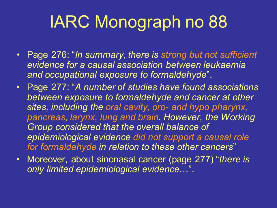 IARC Monograph no 88