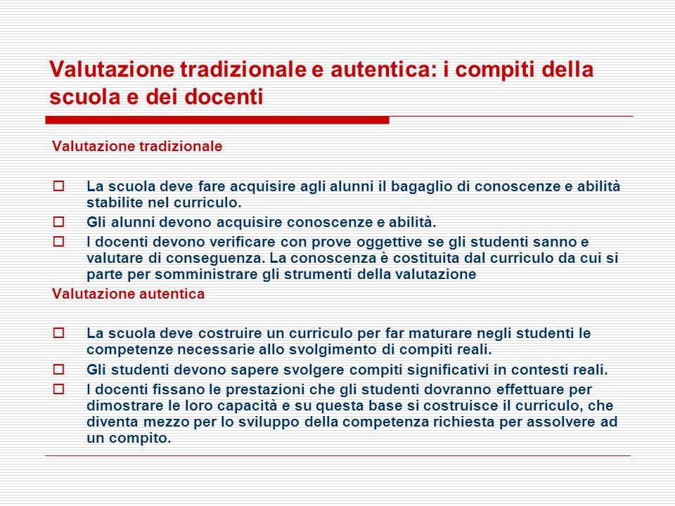 Valutazione tradizionale e autentica: i compiti della scuola e dei docenti