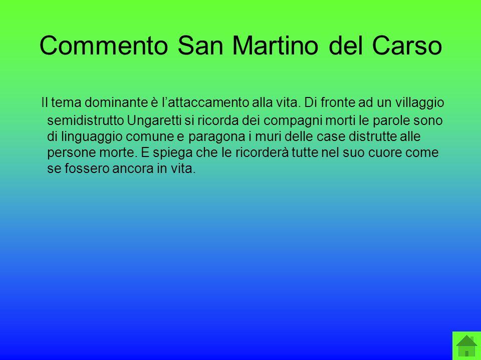 Commento San Martino del Carso