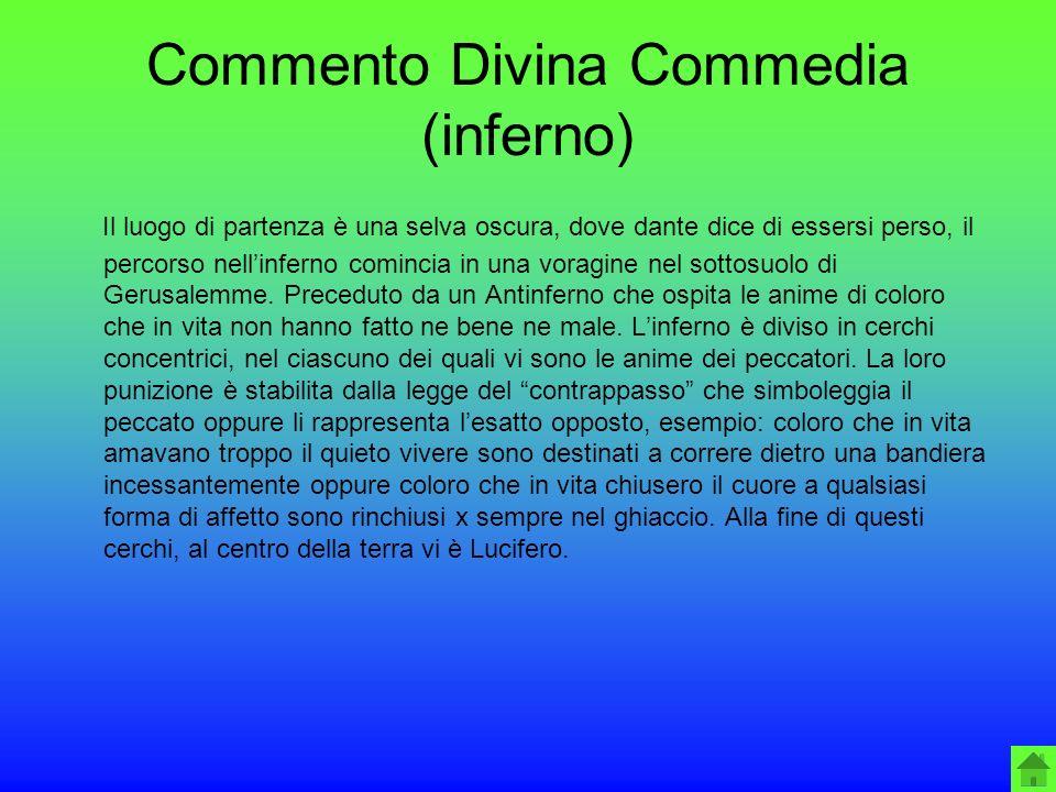 Commento Divina Commedia (inferno)