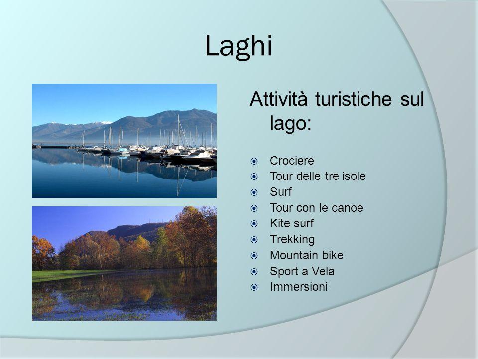 Laghi Attività turistiche sul lago: Crociere Tour delle tre isole Surf
