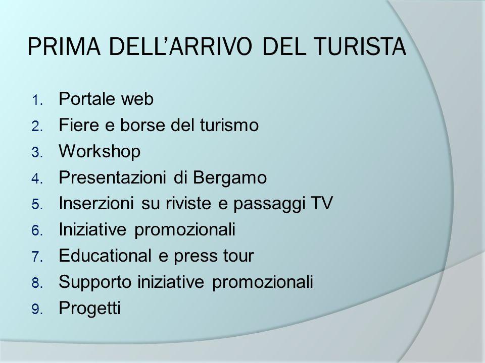 PRIMA DELL'ARRIVO DEL TURISTA