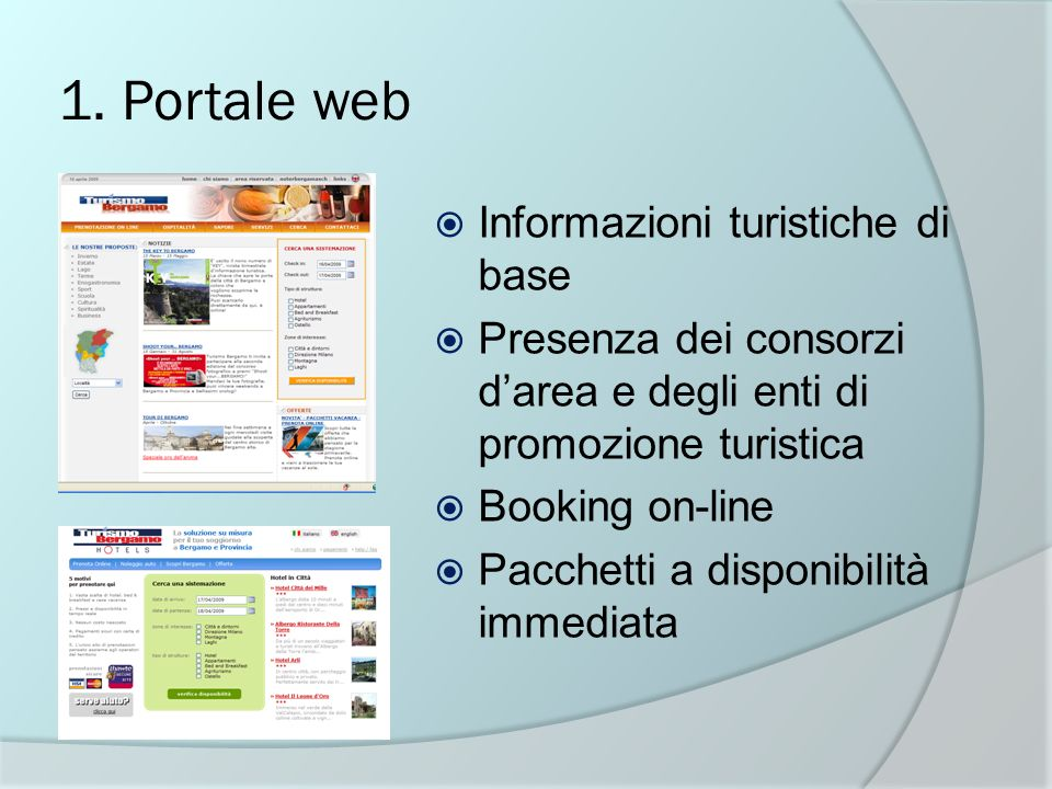 1. Portale web Informazioni turistiche di base