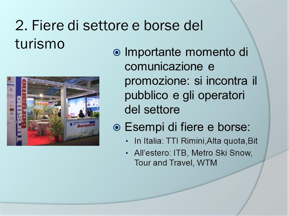 2. Fiere di settore e borse del turismo