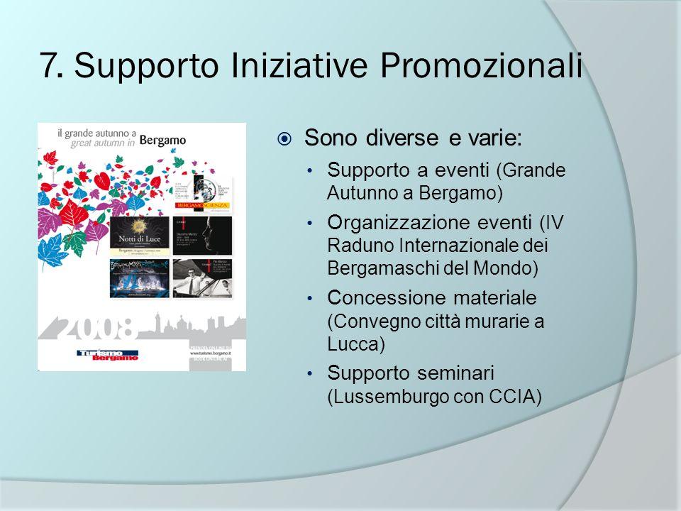 7. Supporto Iniziative Promozionali