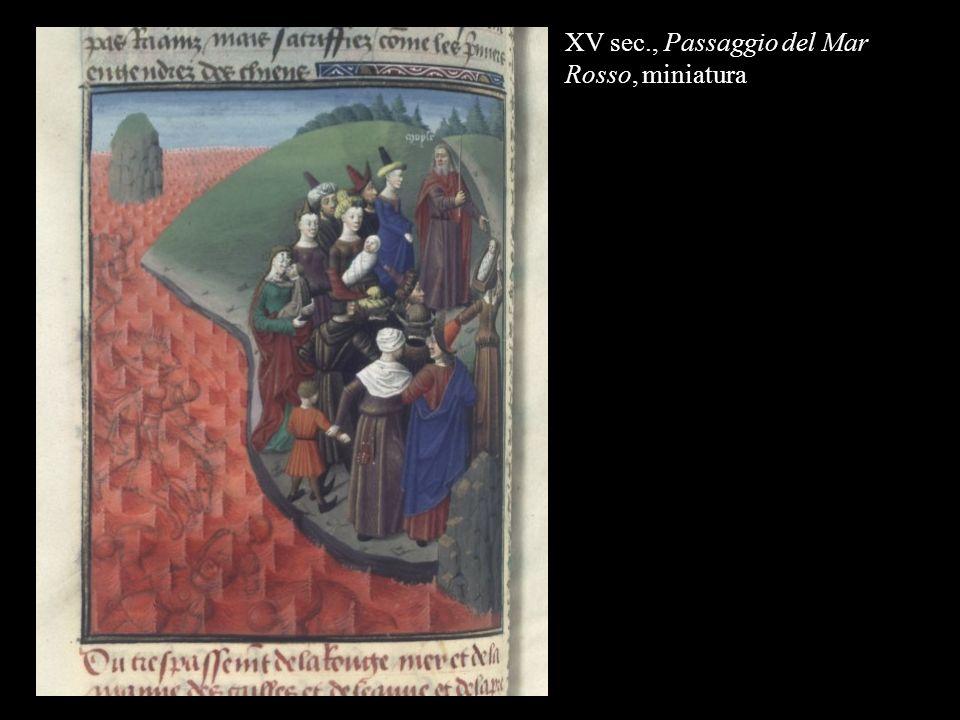 XV sec., Passaggio del Mar Rosso, miniatura