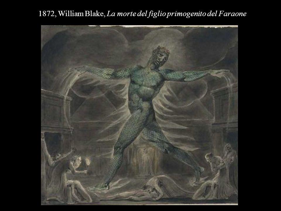 1872, William Blake, La morte del figlio primogenito del Faraone