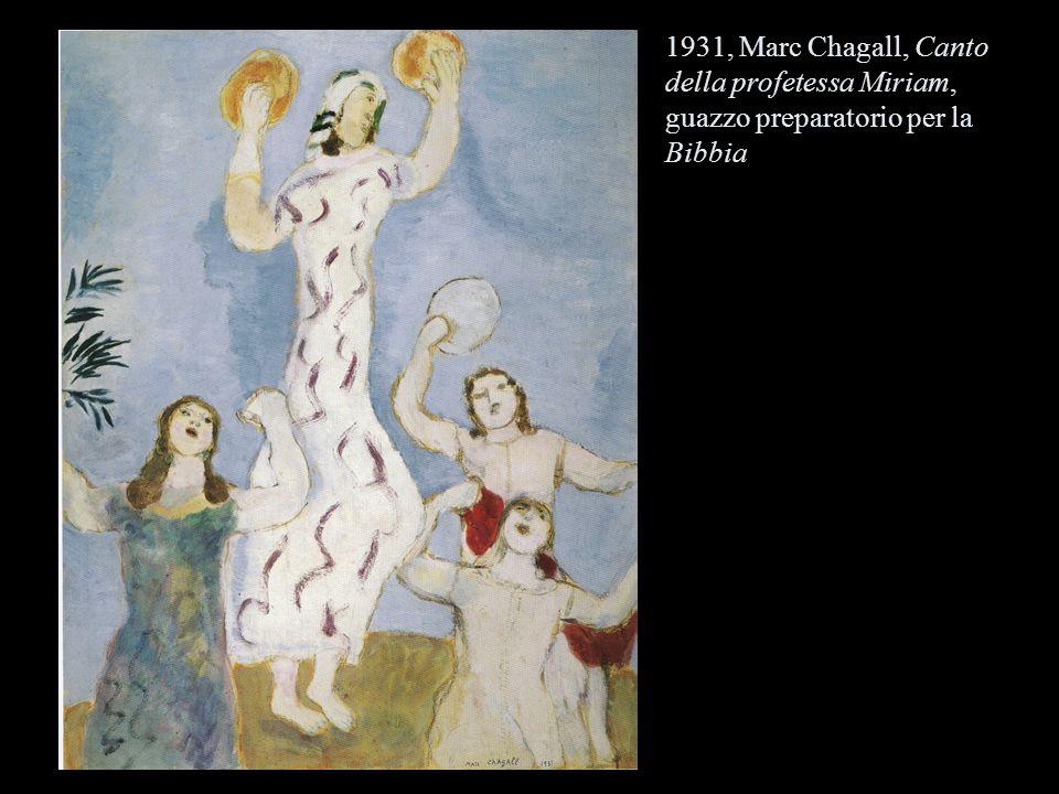 1931, Marc Chagall, Canto della profetessa Miriam, guazzo preparatorio per la Bibbia