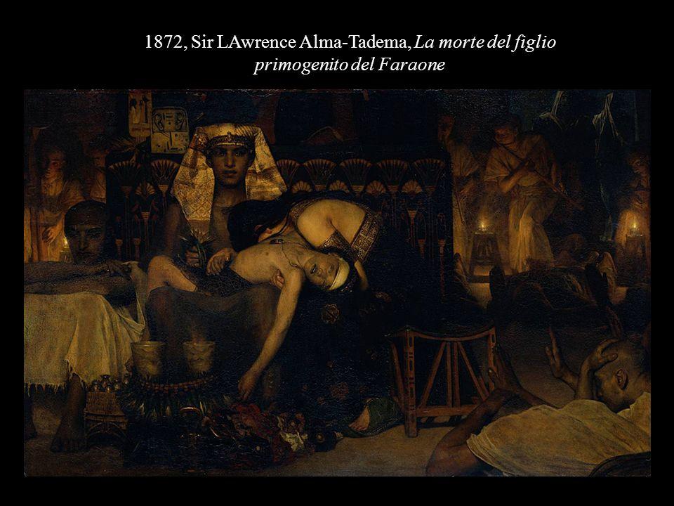 1872, Sir LAwrence Alma-Tadema, La morte del figlio primogenito del Faraone