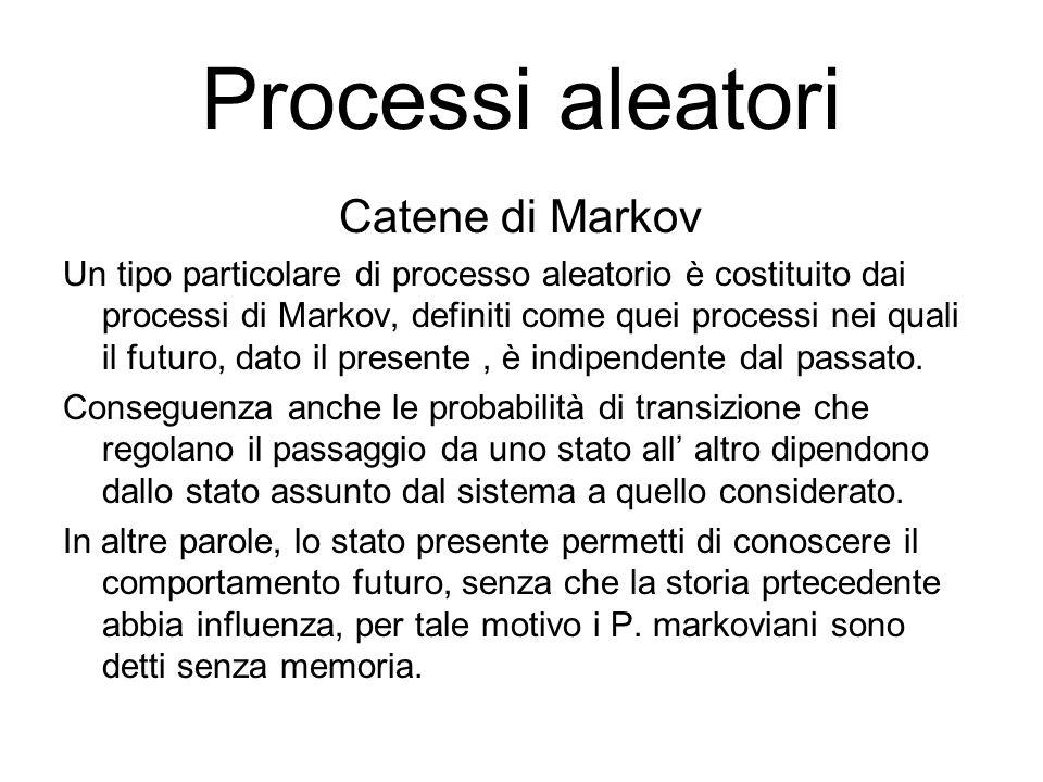 Processi aleatori Catene di Markov