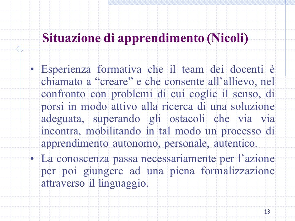 Situazione di apprendimento (Nicoli)