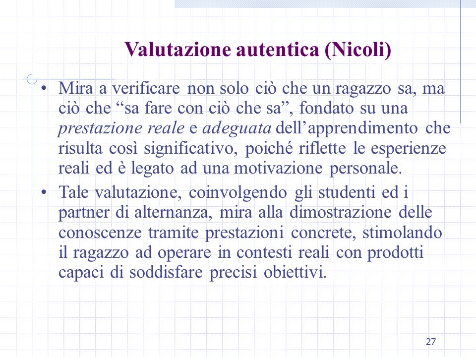 Valutazione autentica (Nicoli)