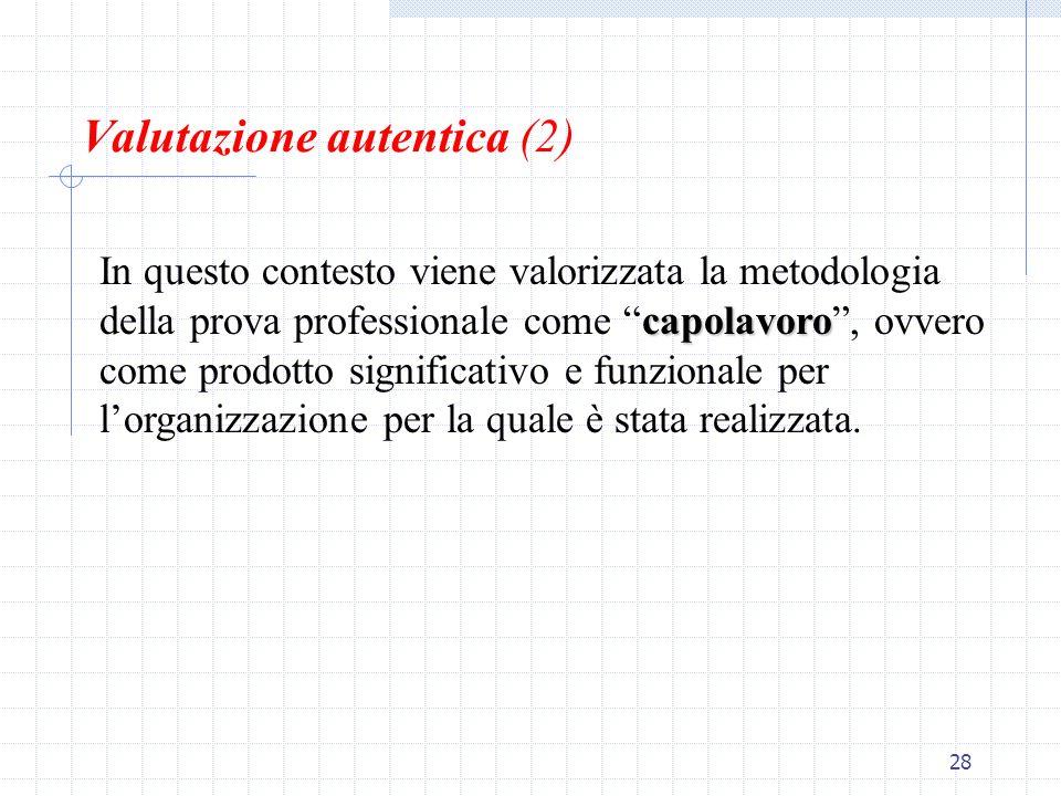 Valutazione autentica (2)