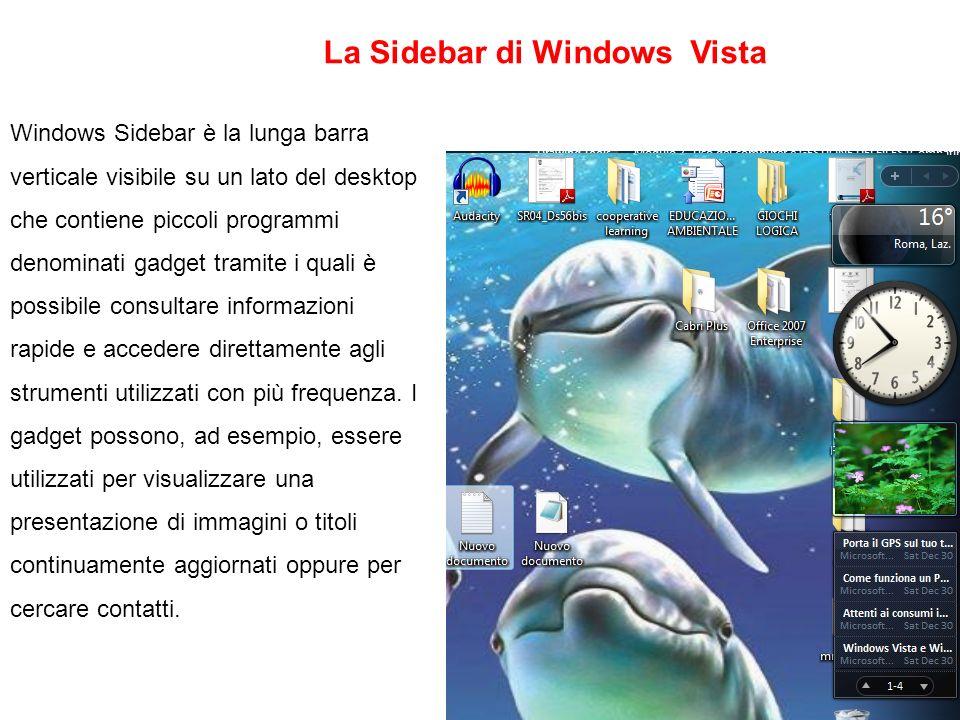La Sidebar di Windows Vista