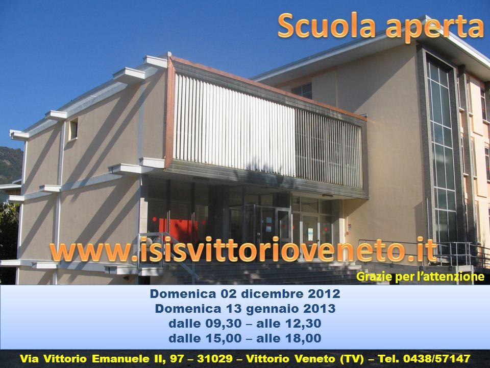 Scuola aperta www.isisvittorioveneto.it Grazie per l'attenzione