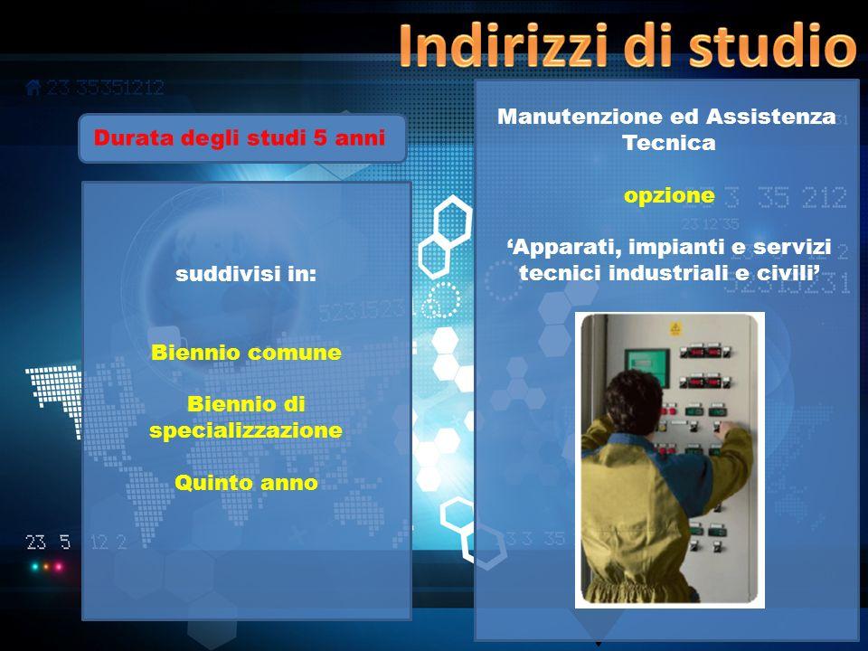 Indirizzi di studio Manutenzione ed Assistenza Tecnica
