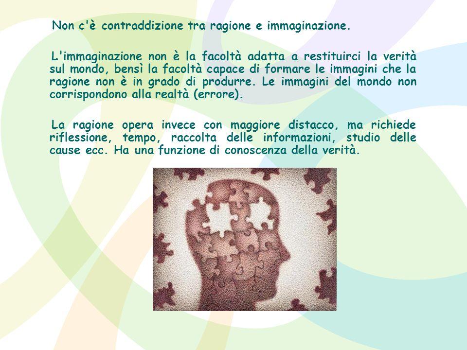 Non c è contraddizione tra ragione e immaginazione.