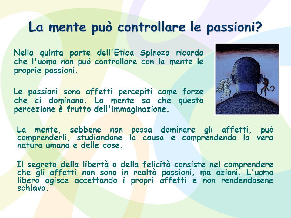 La mente può controllare le passioni