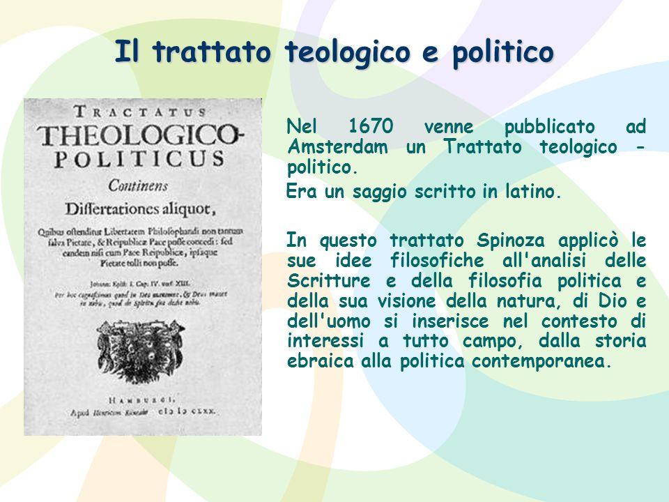 Il trattato teologico e politico