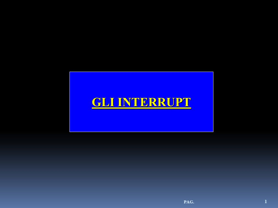 GLI INTERRUPT PAG.