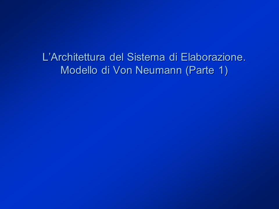 L'Architettura del Sistema di Elaborazione